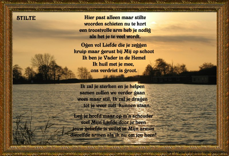 Wonderlijk My Place of Peace mijn gedichten Gedichtenkaarten Overlijden - My NR-64